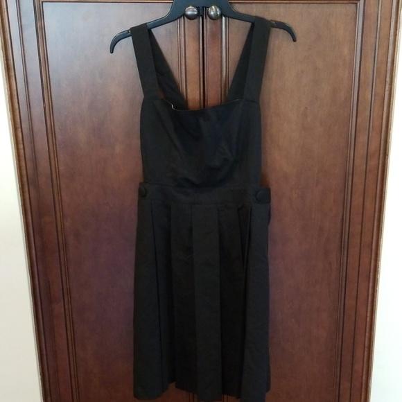 Modcloth Dresses & Skirts - Jumper Right In Black Pleated Dress Jumper XL